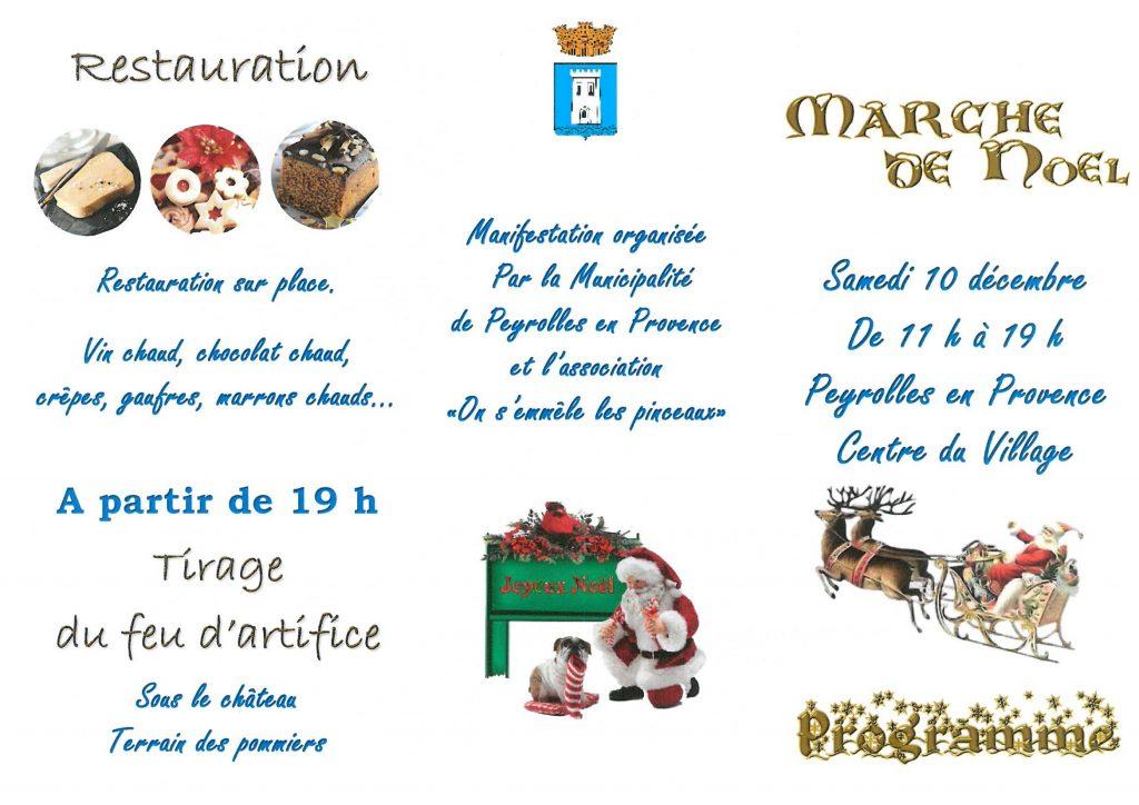 Programme détaillé Marché de Noel