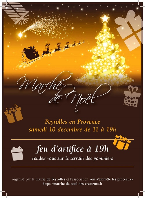 Marché de Noel Peyrolles en Provence